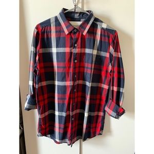 Red and Blue Checkered Aeropostale Shirt